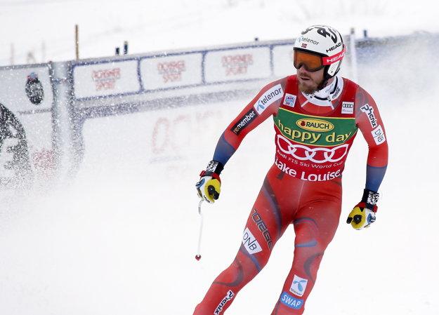 Kjetil Jansrud v cieli pretekov.