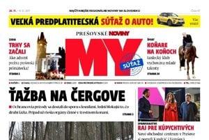 Titulná strana týždenníka MY Prešovské noviny č. 47/2017.