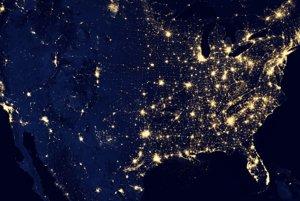 Spojené štáty z kozmu.
