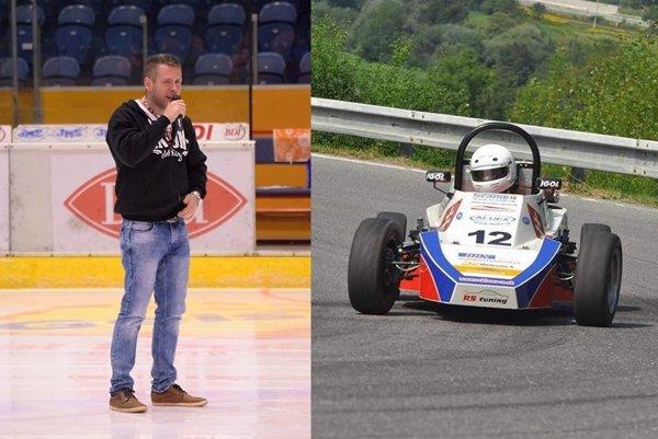 Martin Matuška (33) ako moderátor a automobilový pretekár