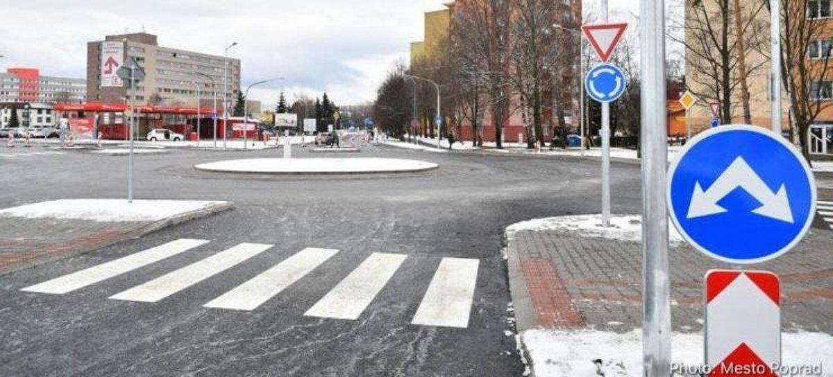9048c0d25 Prestavbu dôležitej popradskej križovatky ukončili - Korzár SME