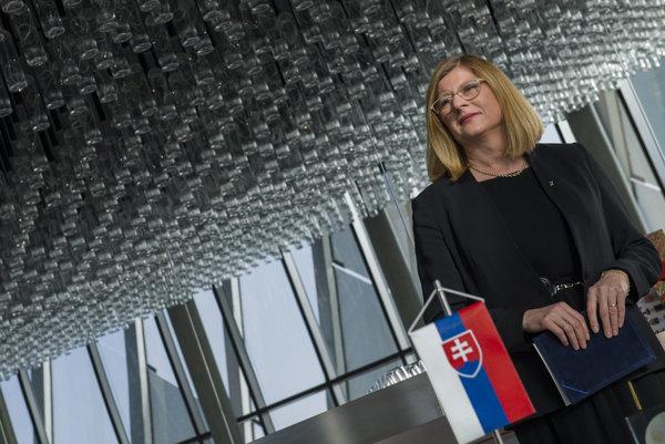 Gabriela Matečná v Múzeu svetových vín vo francúzskom Bordeaux.