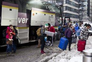 Cestujúci z Los Angeles prišli do mrazivého Chicaga.