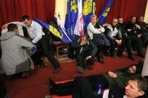 Noc na obsadenej kyjevskej radnici.