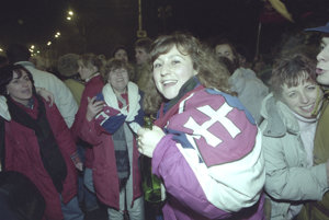 Oslavy vzniku Slovenskej republiky 1. januára 1993.