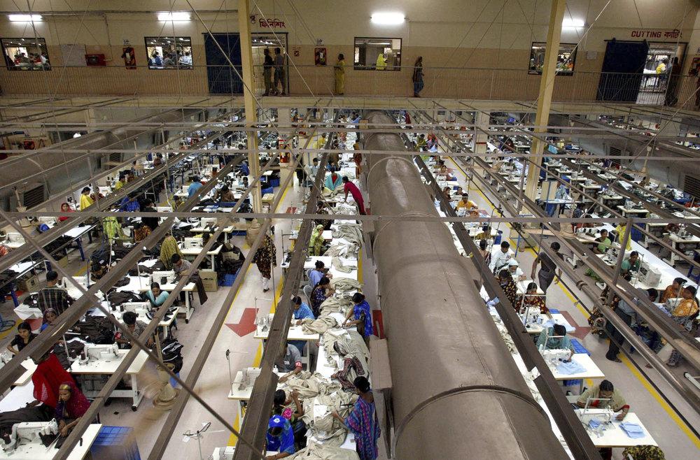Fabrika na výrobu oblečenia v Bangladéši.