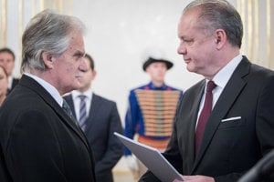 Sudca Mojmír Mamojka a prezident SR Andrej Kiska