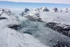 Ľadovec na východe Grónska.