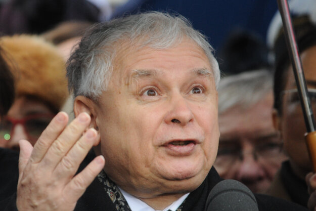 Jaroslaw Kaczynski, líder PiS, hovoril o chybách minulej vlády a o tom, ako chce jeho strana meniť Poľsko.