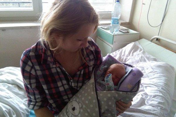 Mamička s malým Sebastiánom.