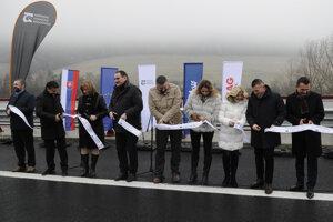Slávnostné otvorenie úseku diaľnice D1 Fričovce – Svinia v okrese Prešov.