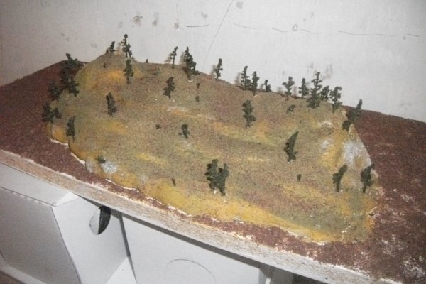 Jeden z modelov pravekého sídliska.