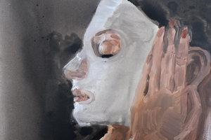 Ukážka tvorby Jany Farmanovej - Ester vmaske.