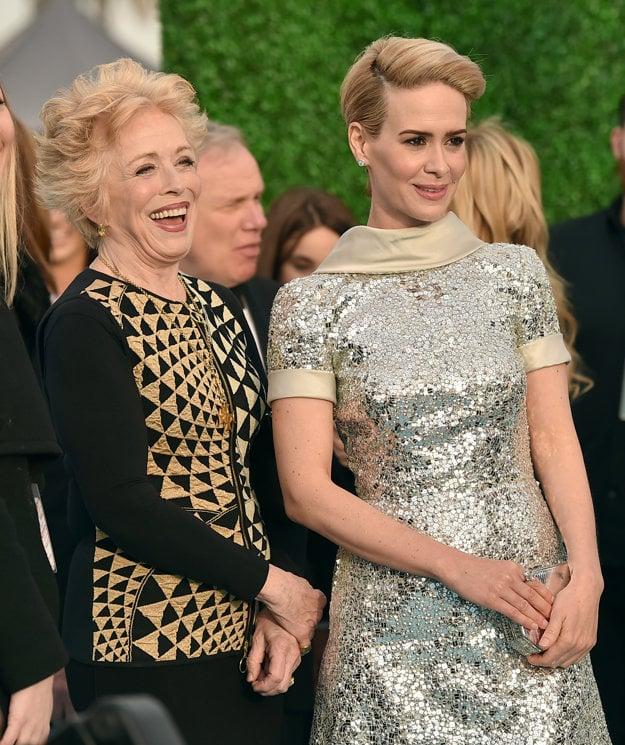 Sarah Paulson s partnerkou Holland Taylor (vľavo)