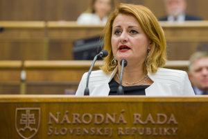 Poslankyňa Natália Blahová (SaS).
