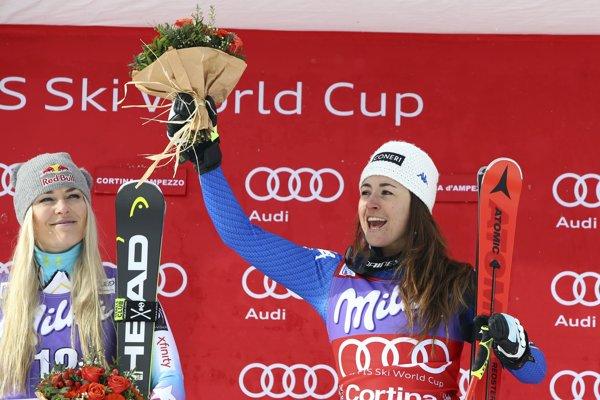 Sofia Goggiová vyhrala druhý zjazd po sebe.