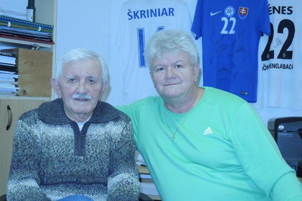 Ján Hudec starší (vľavo) so synom Jánom.