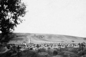 Vojenský cintorín v Majeri, kde pochovali viac ako 1 300 vojakov.
