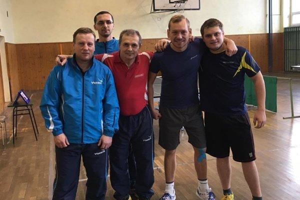 Zľava: Viktor Piesecký, Peter Franek, František Kotrč, Juraj Vnuk a Marián Špila.