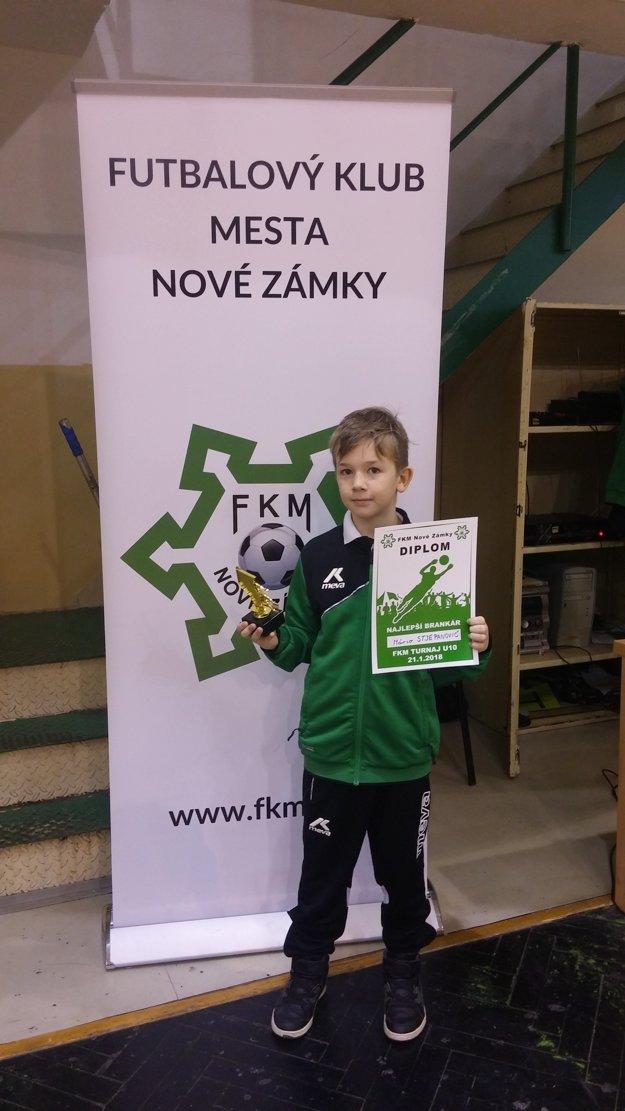 Najlepší brankár turnaja Mário Stjepanovič (FKM Nové Zámky)