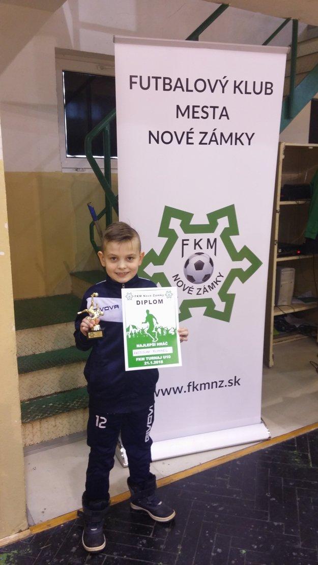 Najlepší hráč turnaja Rastislav Anton Flimmel (MFK Topvar Topoľčany)