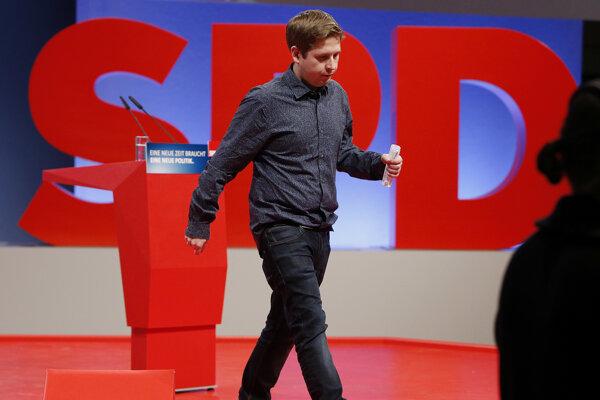 Líder mladých nemeckých ľavičiarov Kevin Kühner.