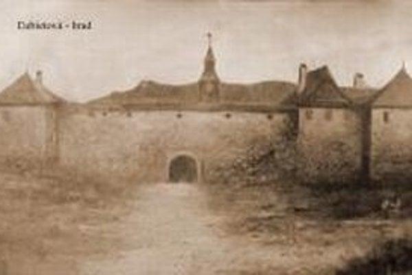Zaniknutý mestský hrad zachytáva maľba zrejme z 19. storočia
