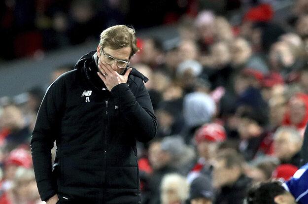Tréner Liverpoolu Jurgen Klopp bol po zápase právom sklamaný.