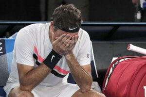 Roger Federer po triumfe.