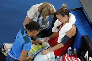 Halepová si počas finále nechala zmerať tlak.