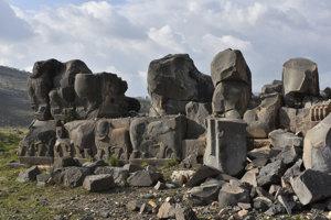 Chrám Ain Dara je do veľkej miery zničený.