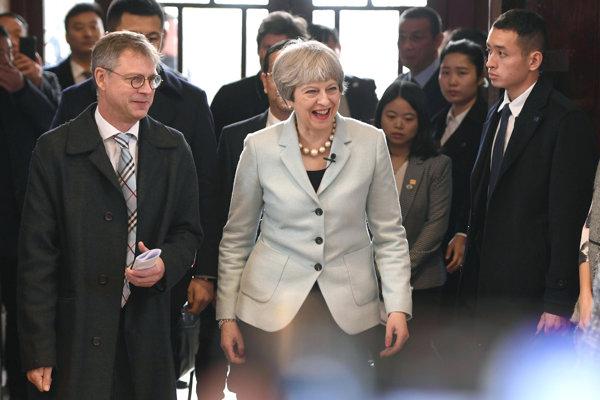 Theresa Mayová na návšteve Číny.