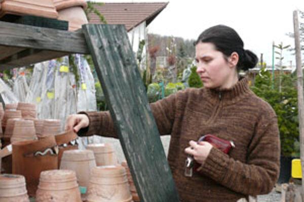 Veroniku zaujali najmä črepníky.