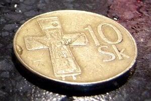 Desaťkorunová minca.