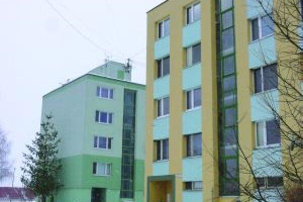 Bytovky v meste Sliač