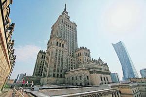 Varšavský palác kultúry.