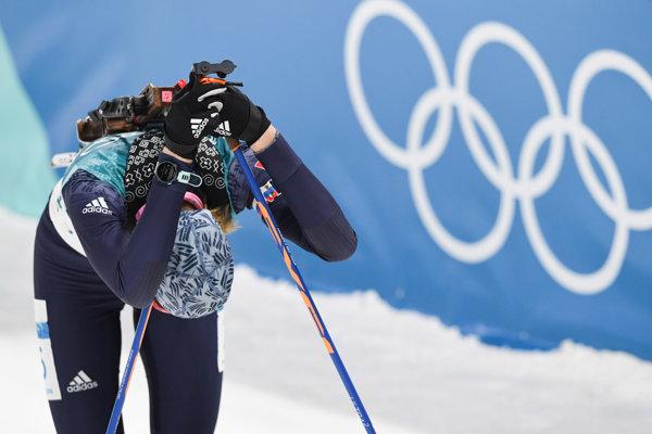 Anastasia Kuzminová smúti v cieli pretekov.