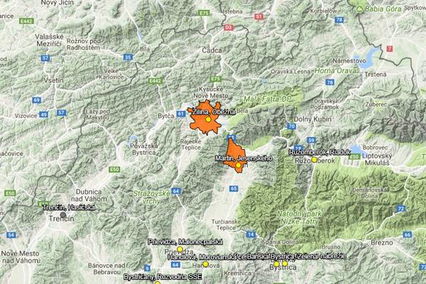 Okrem Žiliny je zhoršená smogová situácia aj v Martine a vo Vrútkach.