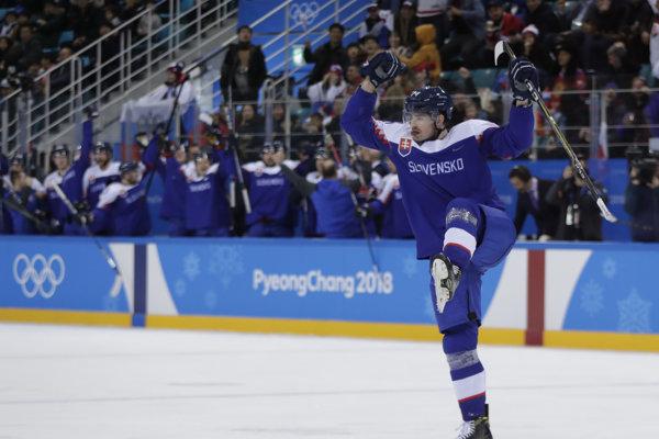 Peter Čerešňák v reprezentačnom drese počas olympiády.
