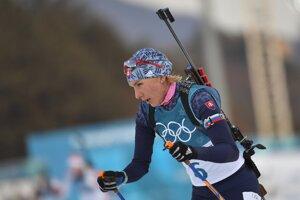 Anastasia Kuzminová zabojuje o svoju tretiu medailu na olympiáde v Pjongčangu.