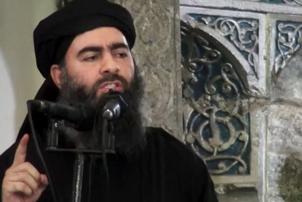 Vodca Islamského štátu Abú Bakr Bagdádí.