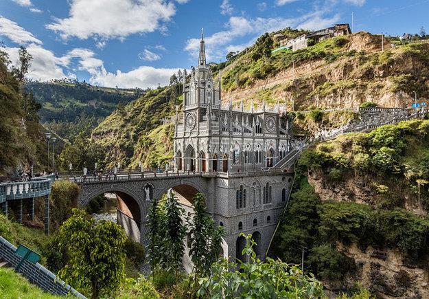 Kolumbia. Santuario de Las Lajas.