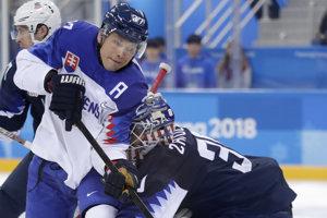 Slovenský hokejista Ladislav Nagy počas olympiády v Pjongčangu.