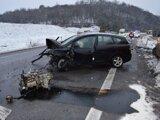 Nehoda sa stala na ceste I/16 v katastri Zvolena za odbočkou na Lieskovec.