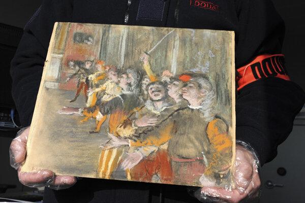 Francúzi objavili v kufri autobusu nezvestný Degasov obraz
