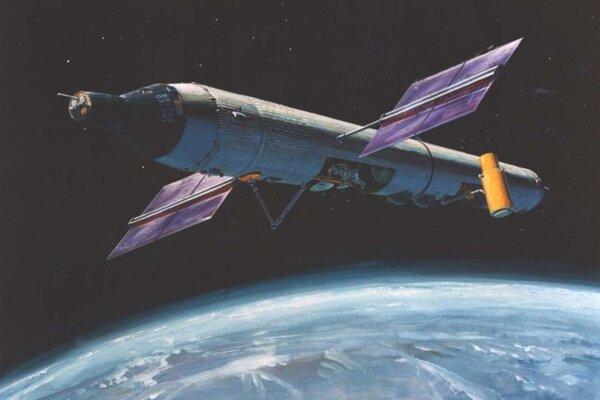 Vizualizácia vesmírnej stanice Manned Orbiting Laboratory.
