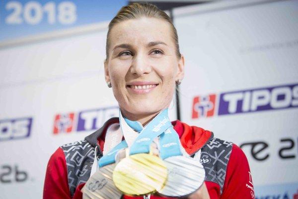 Anastasia Kuzminová získala v Pjongčangu tri medaily.