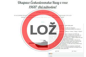 Webstránky a facebookové účty šíria klamstvá o sovietskej okupácii.