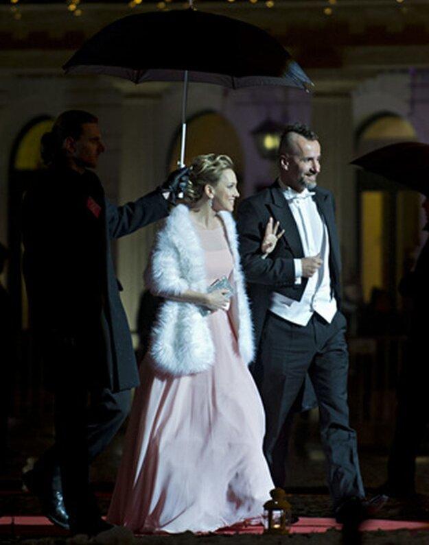 Herečka Monika Hilmerová s manželom Jarom Bekrom