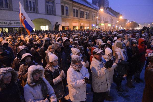 Pochod za novinára Jána Kuciaka a jeho priateľku Martinu Kušnírovú.